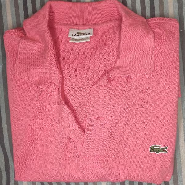 Camisa polo lacoste rosa