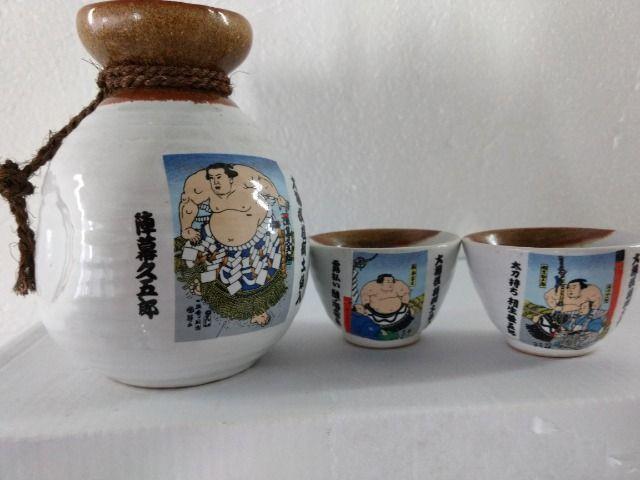 Conjunto saquê 3 peças japonês