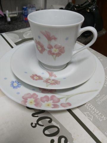 Jogo 20 pecas jantar e chá porcelana schmidt