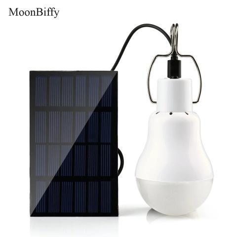 Lâmpada com painel solar