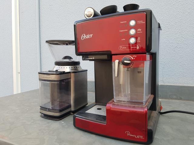 Maquina cafe spresso e capuccino oster + moedor cuisinart