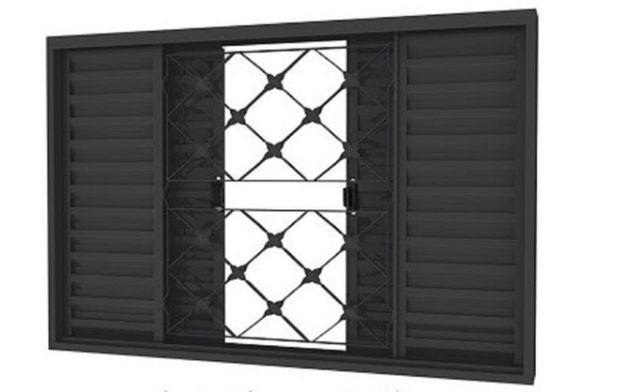 Promoção janela veneziana c/ grade reforçada 1,0 x 1,0 -