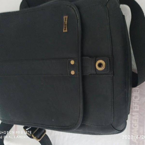 Sestini bolsa de couro legítimo unissex