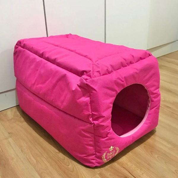 Caminha túnel toca para cachorro ou gato tam p rosa