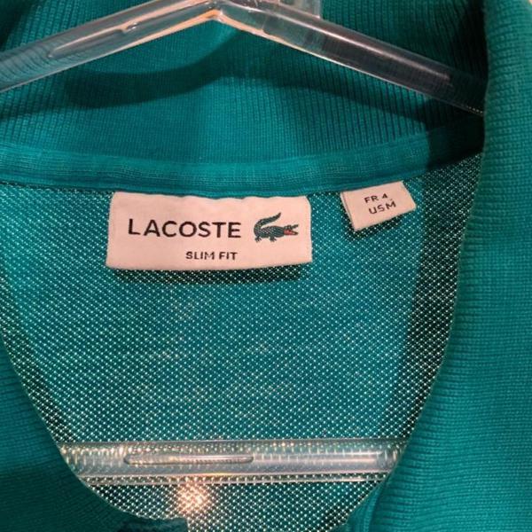 Camisa lacoste verde água