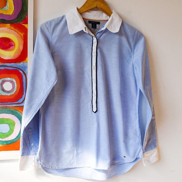 Camisa tommy hilfiger original p masculina tie dye