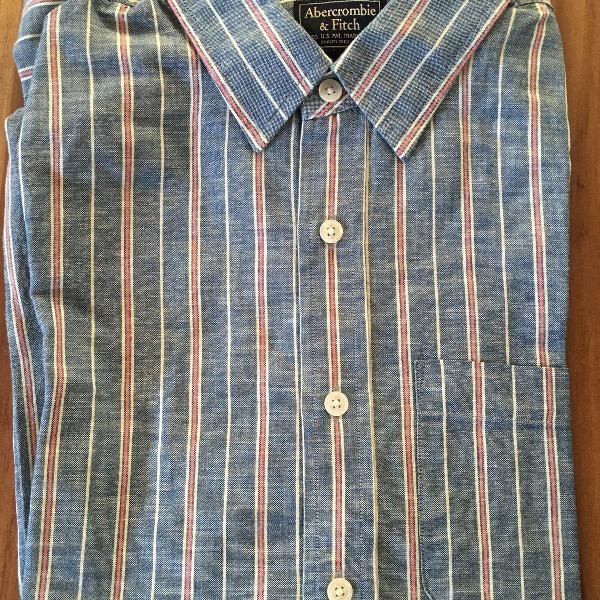 camisa xadrez manga comprida abercrombie