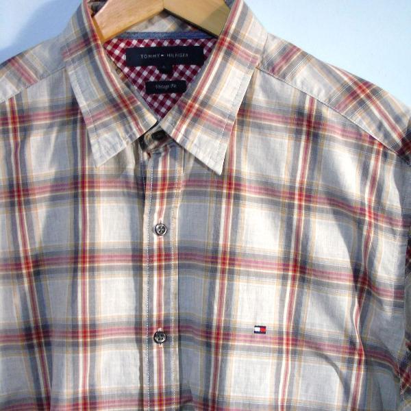Camisa xadrez tommy hilfiger importada