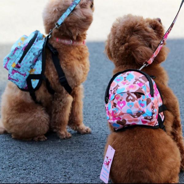 Coleira peitoral p/ cachorros cães pet com mochila tamanho