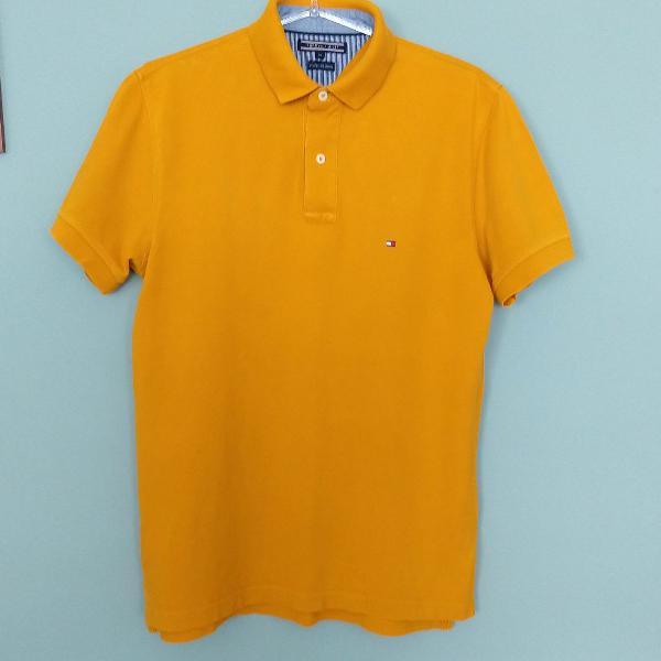 Polo amarela tommy hilfiger