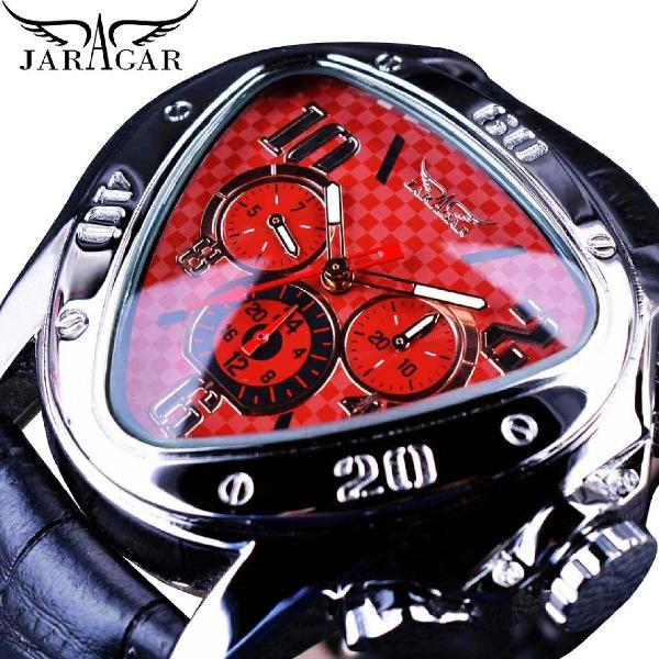 Relógio masculino jaragar geométrico mecânico automático