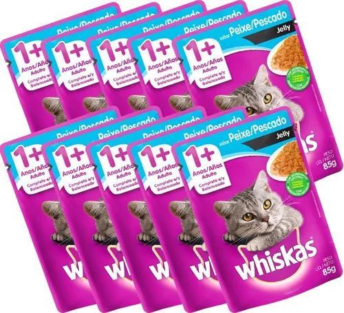 10 ração whiskas sachê 85g - sabores diversos!!