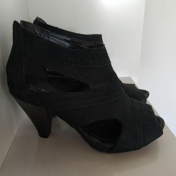 Ankle boot ramarim total confort preta