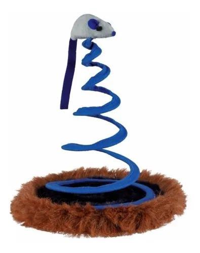 Brinquedo interativo para gatos: rato na mola