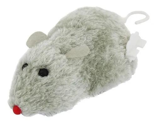 Brinquedo interativo para gatos rato ratinho a corda
