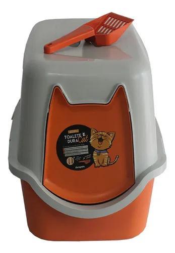 Caixa de areia fechada p/gato c/ pá e filtro-58x40x40