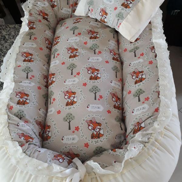 Ninho redutor + almofada para bebê conforto