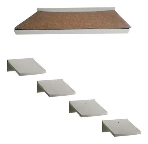 Prateleira arranhador para gatos kit 1 escada 1 prateleira