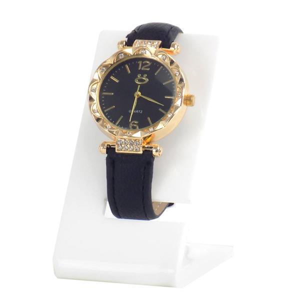 Relógio feminino pulseira couro sintético promoção