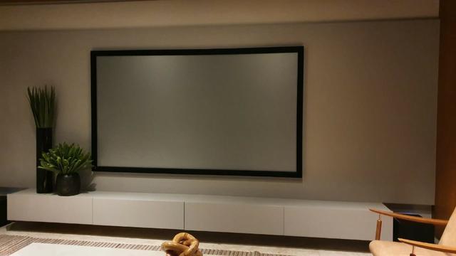 Tela de projeção cinza, importada, 92 polegadas, 4k ultra