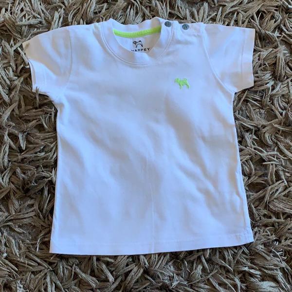 Camiseta branca infantil - charpey - manga curta - tamanho