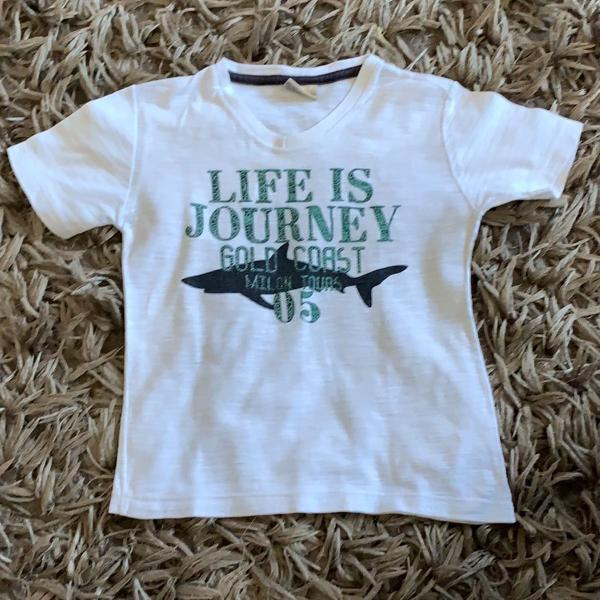 Camiseta branca infantil - milton - manga curta - 3 anos