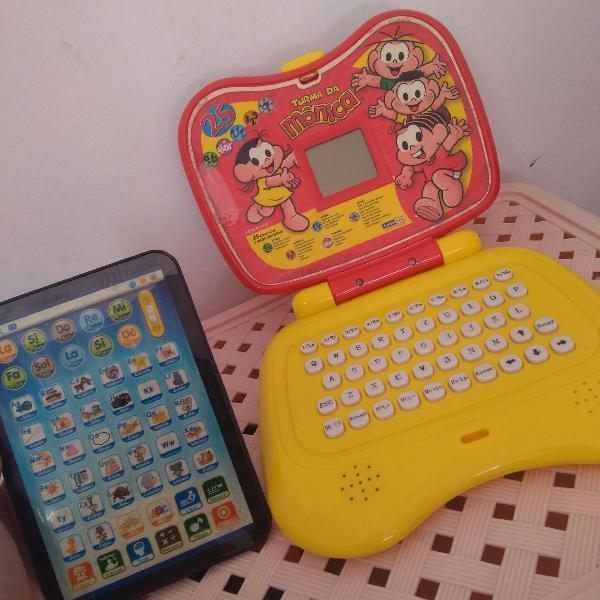 Computador infantil + tablet educativo