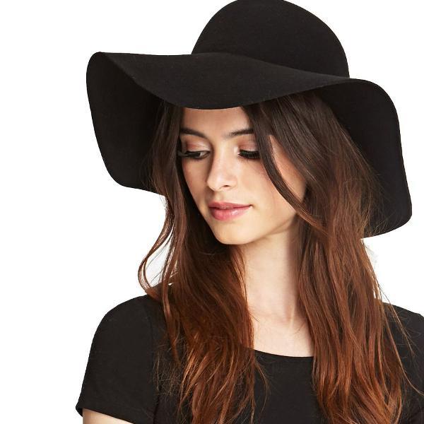 Forever21 chapéu floppy hat preto