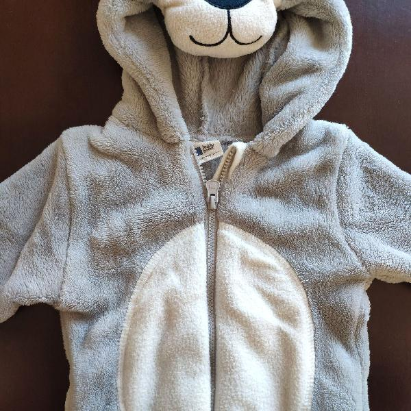 Macacão infantil teddy boom