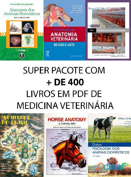 Pacote + de 400 livros de medicina veterinária   pdf   pt br