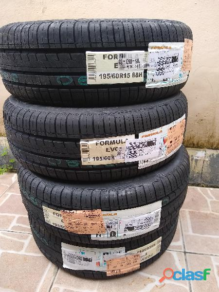Pneu Aro 15 195/60R15 Pirelli Fórmula Evo novo 2