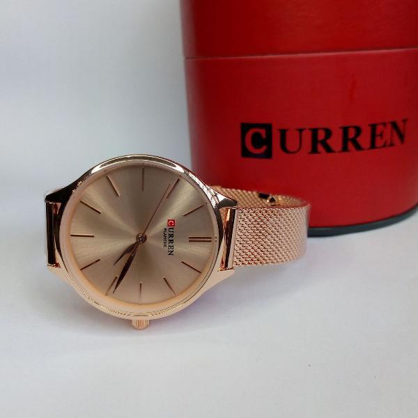 Produto novo, relógio feminino curren analógico c9024l -