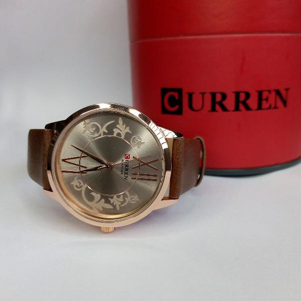 Produto novo relógio feminino curren analógico c9049l -