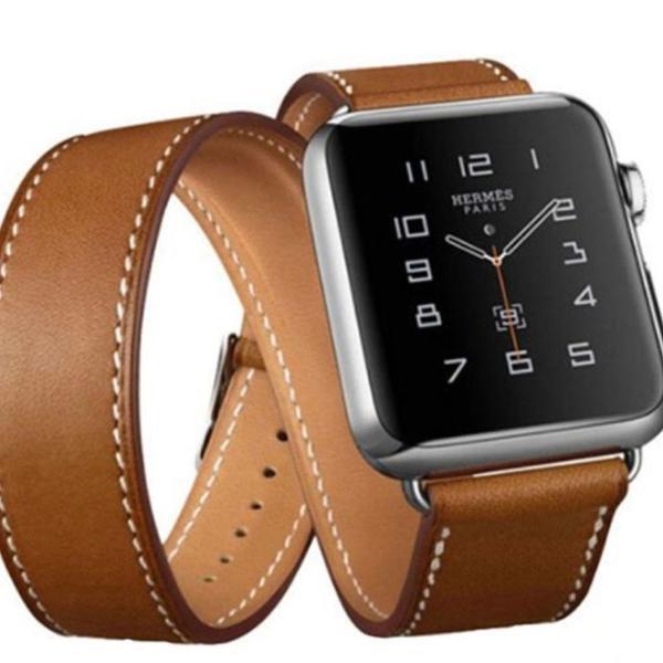 Pulseira apple watch couro estilo hermes 42mm