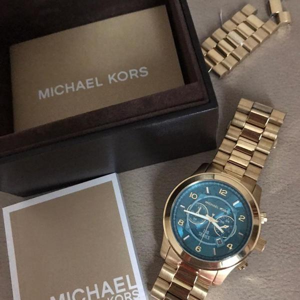Relógio original michael kors, dourado mk-8315