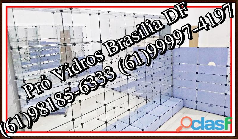Vitrines em vidro temperado,(61)98185 6333,brasília, df, temos tudo a pronta entrega, frete grátis