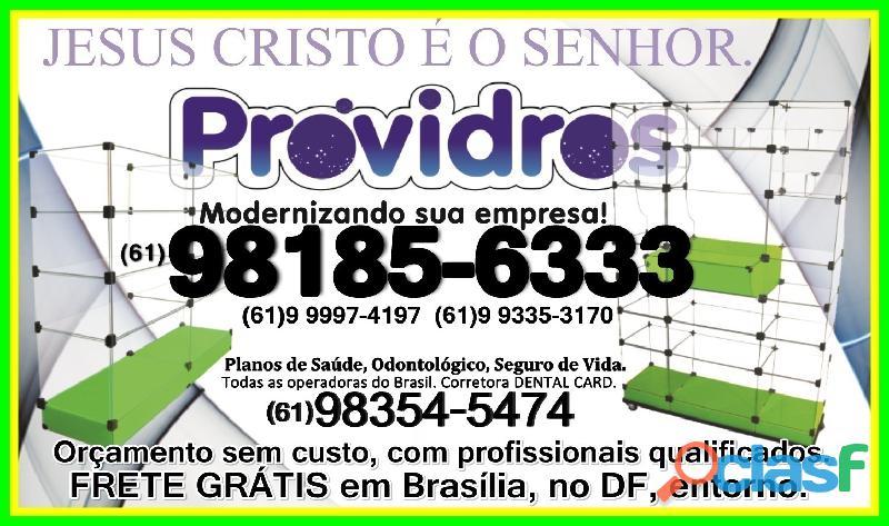 Vitrines em Vidro Temperado,(61)98185 6333,Brasília, DF, temos tudo a PRONTA ENTREGA, frete grátis 2