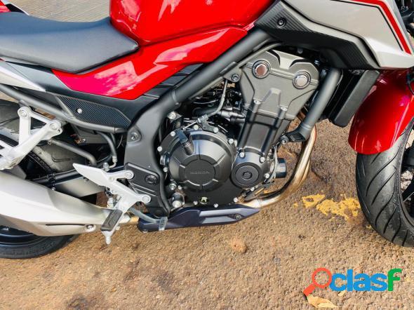 Honda cb 500f vermelho 2019 500 gasolina