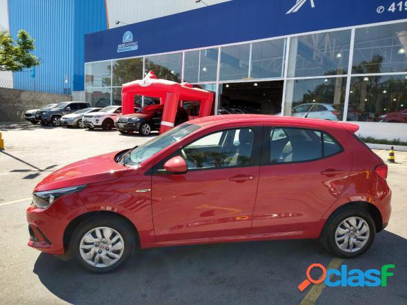 Fiat argo drive 1.0 6v flex vermelho 2019 1.0 flex