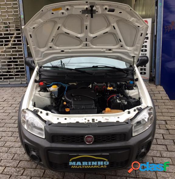 Fiat strada hard working cs 1.4 flex ar condicionado e direcao hidraulica branco 2018 1.4 flex