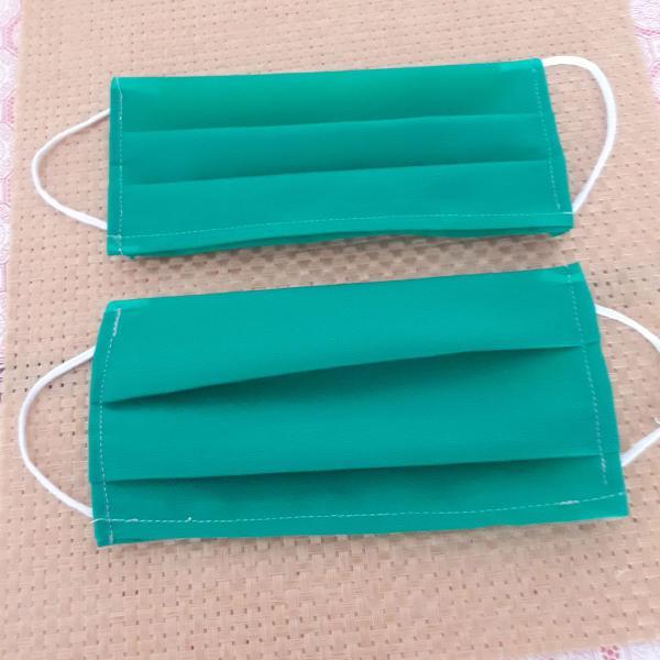 5 mascaras tnt cores verde, rosa,azul, ou preta