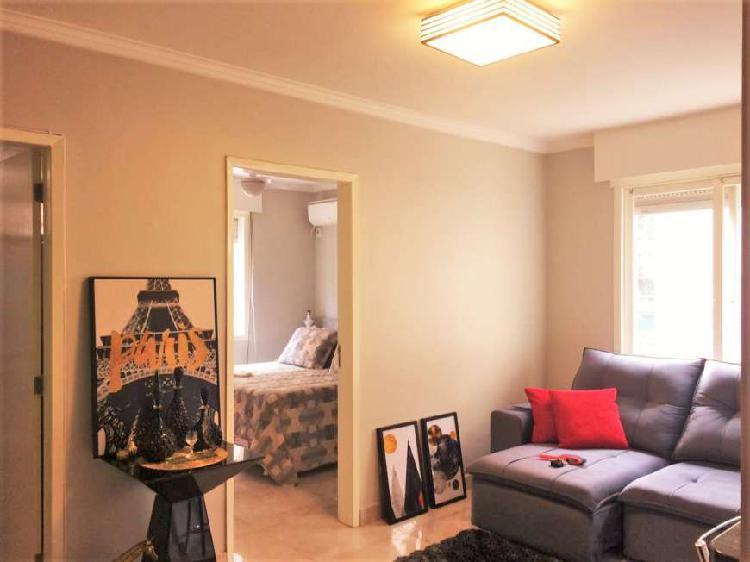 Apartamento 43 m², 1 dormitório, vaga locada no