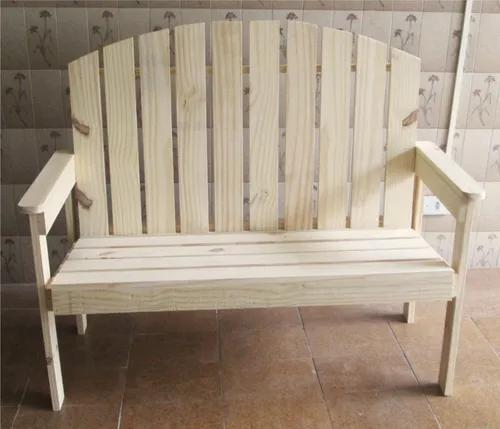Banco sofa de madeira reciclada de pallets, mod leque