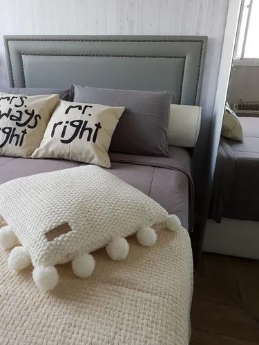 Cabeceira reta tachas casal size cama box