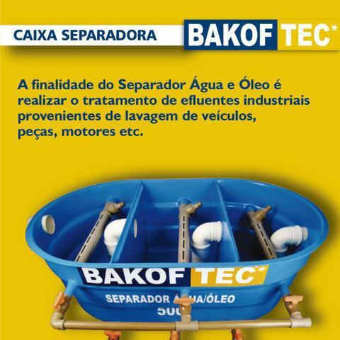 Caixa separadora de aguá/óleo bakof