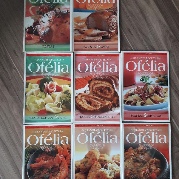 Coleção de livros de receitas ofélia