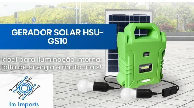 Gerador solar portátil - tecnologia e energia renovável