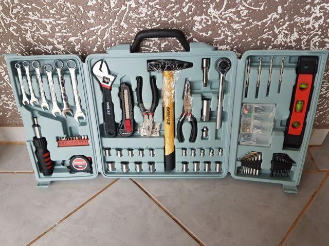 Kit jogo de ferramentas 160 peças maleta schulz