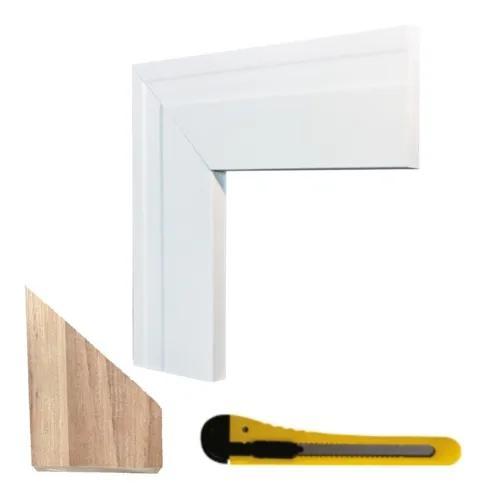 Moldura eva flexível p/ porta e janela 10x1cm - 10 metros
