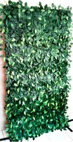 Muro inglês artificial com galhos de fícus verde 2,00 x